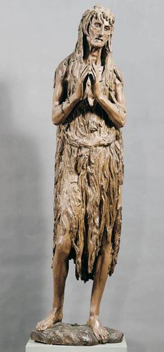Donatello, Mary Magdalene c.  1457  oh the things i could tell you about this sculpture :)