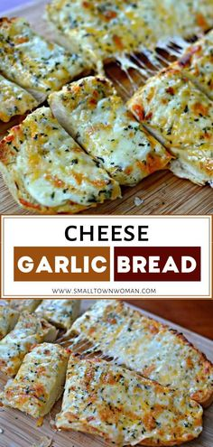 Mouthwatering easy garlic cheese bread that combines mozzarella, provolone, and cheddar on soft crusty Italian or French Bread Appetizers, Appetizer Recipes, Italian Appetizers, Dinner Recipes, Cheddar, Garlic Cheese Bread, Crusty Garlic Bread Recipe, Italian Cheese Bread, Bread Recipes