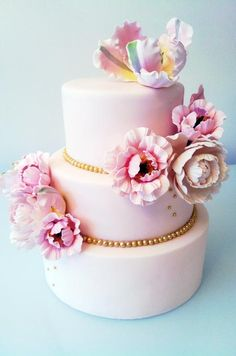 Pink flower cake By Connie Cupcake