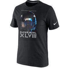 Nike Denver Broncos vs. Seattle Seahawks Super Bowl XLVIII Dueling Helmet  Head To Head T-Shirt - Black a45e0425e