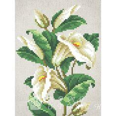 Канва с рисунком для бисера Лилии Т-0603 #beads #beadwork #embroidery #mimistitch