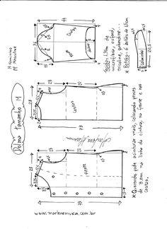Esquema de modelagem de dolma tamanho M.