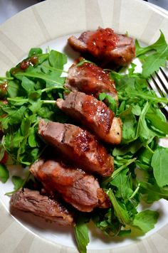 Seared Duck Breast with plum sauce