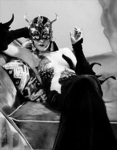 """Kay Johnson as Madame Satan Imagine a masquerade party aboard a zeppelin. That's the setting for the 1930 film, """"Madame Satan,"""" a pre-c. Metro Goldwyn Mayer, Barbara Stanwyck, Classic Hollywood, Old Hollywood, Hollywood Glamour, Hollywood Actresses, Hollywood Gowns, Satan, 1930s Fashion"""
