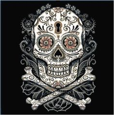 Dark Sugar Skull Cross Stitch Printable Needlework Pattern - DIY Crossstitch Chart, Relaxing Hobby, Instant Download PDF Design