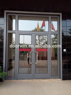 """Commerical/residential automatic glass sliding door, auto door with coded lock"""