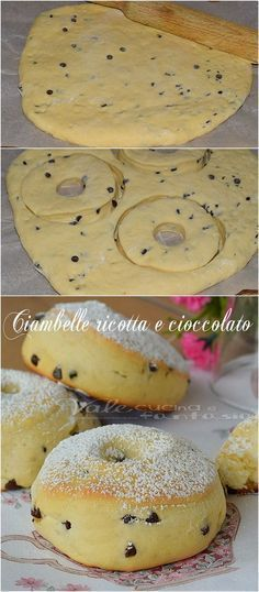 Ricotta and chocolate donuts Loading. Ricotta and chocolate donuts Austrian Recipes, Italian Desserts, Italian Recipes, Canadian Recipes, English Recipes, French Recipes, Mexican Recipes, Italian Meals, Chocolate Donuts