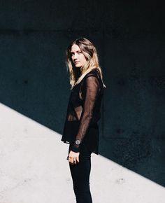 Minimalistic Mesh — Bethany Marie Co. Dark Shades, Dark Denim, My Wardrobe, All Black, Autumn Fashion, Minimalist, Punk, How To Wear, Mesh
