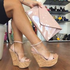 20 Cheap & Trendy Summer Heels, Sandals, Booties, and Wedges Wedges Outfit, Shoes Heels Wedges, Wedge Shoes, Wedge High Heels, Wedge Sandals, Ankle Strap Wedges, Heeled Boots, Shoe Boots, Prom Heels