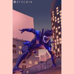 Back to Nightwing cause I really gotta finish this. Painting, levels, and saturation fixes. #nightwing #dccomics #comics #wip