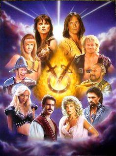 Xena, Hercules, Gabrielle, Iolaus, Salmoneus, Aphrodite-Greek goddess of Love, Joxer, Autolycus, Ares- Greek god of war, Callisto.