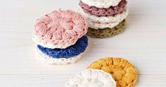 How to make re-usable cotton pads (instructions in Finnish) // Virkatut puhdistuslaput - katso helppo ohje ja tee itse! Crochet Home, Free Crochet, Knit Crochet, Granny Chic, Yarn Crafts, Diy And Crafts, Knitted Blankets, Beautiful Crochet, Crochet Doilies