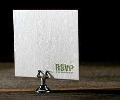 Bleecker Modern letterpress wedding invitation suite by Jessica Tierney for Bella Figura