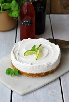5+1 ainesosan vegaaninen limejuustokakku Margarita, Cheesecake, Sweets, Snacks, Baking, Desserts, Recipes, Food, Photos