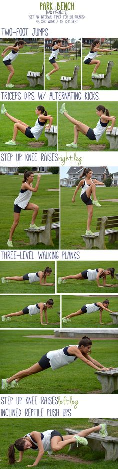 Another bench workout! Stop by one on your next run.