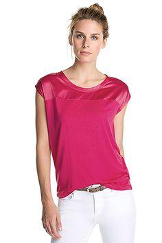 t-paita pinkki kiiltävä yläosa Esprit 29,95 e - t-shirt pink shiny