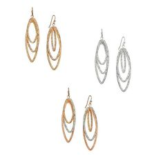 TRIO TWIST EARRINGS: A great value! Lightweight, textured twist design. Comes in silvertone, goldtone or tri tone with rose goldtone. You can find this & more #Avon #jewelry at www.youravon.com/jantunes. #earrings