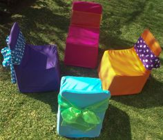 For all you party planners out there - get our mix and match chair cover pack and start your kids party business right away!