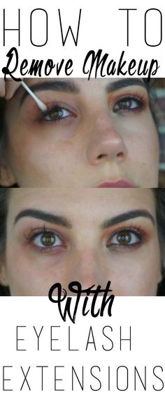 how to remove makeup with eyelash extensions