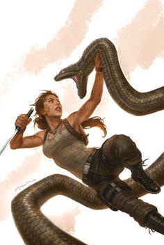 Lara Croft: Tomb Raider — ajayghaleh: Tomb Raider # 16 issue cover by Andy. Tomb Raider Lara Croft, Tomb Raider Comics, Tomb Raider Video Game, Comic Art, Comic Books, Andy Park, Midtown Comics, The Dark Crystal, Character Design