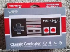 Retrolink Nintendo Classic Style USB wired controller for PC and Mac New