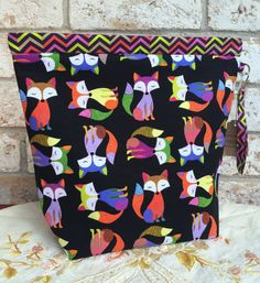 Amy Project Bag_Large Knitting Project Bag by kimariesknitknacks