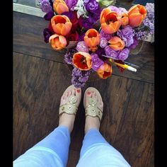 the flowers matched my toes! #lovemyjacks
