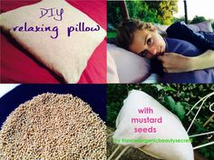DIY relaxing pillow - Learn how to make your dream pillow with essential oils, mustard seeds and herbs
