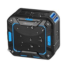Boomph Wireless Water Resistant Bluetooth 2000 MAH Speakers with Bike Mount Feature Best Outdoor Portable Sport or Shower Amplifier Speakerphone System for iPhone Smartphone  MP3 Player Blue ** Read more reviews of the product by visiting the link on the image.Note:It is affiliate link to Amazon.