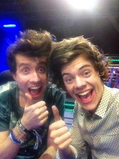 Grimmy & Harold after the Brit awards 2013