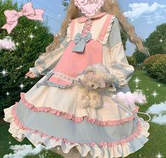 Harajuku Fashion, Kawaii Fashion, Lolita Fashion, Cute Fashion, Pretty Outfits, Pretty Dresses, Beautiful Dresses, Cool Outfits, Old Fashion Dresses