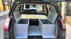 [Renault Grand Scenic] Camper edition Mini Camper, Vw Camper, Odyssey Van, Car Tent, Monospace, Van Dwelling, Van Interior, Remodeled Campers, Camping Life
