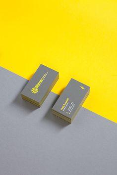 Clean business card design.