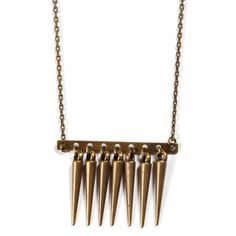 Comb Necklace Brass, $20, now featured on Fab.