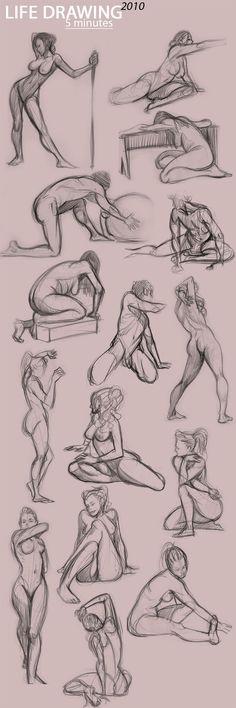 life drawing, anatomy, poses: