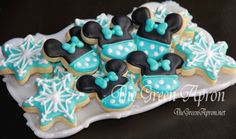 24 Miniature  Winter Themed Mouse Sugar Cookies by TheGreenApronAR, $24.00