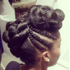 flat twists/pin-up on natural hair