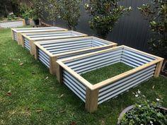 Raised Garden Bed/ Planter Box/ Vegie garden Approx 1940 X 1040 X 450 Metal Raised Garden Beds, Raised Garden Bed Plans, Building Raised Garden Beds, Raised Beds, Garden Yard Ideas, Garden Boxes, Garden Projects, Backyard Vegetable Gardens, Vegetable Garden Design