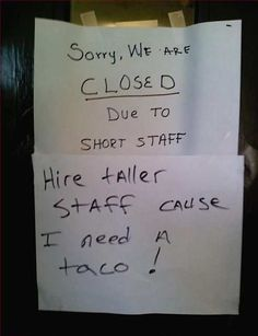 Yes! Taller staff needed!