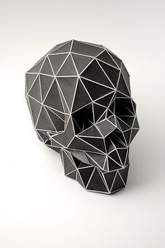 Physical representation of a digitised skull. By Christian Fiebig.