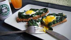 W kuchni Zouuzy: Śniadanie - grzanki ze szpinakiem i jajkiem