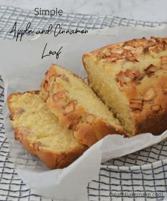 Loaf Recipes, Easy Cake Recipes, Dessert Recipes, Thermomix Desserts, Muffin Recipes, Lunch Recipes, Cinnamon Loaf, Cinnamon Recipes, Healthy Apple Desserts