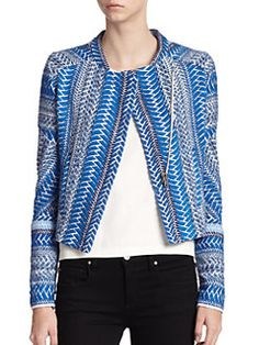 IRO - Embroidered Chevron Cropped Jacket