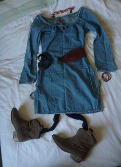 A vendre sur #vintedfrance ! http://www.vinted.fr/mode-femmes/autres-robes/18512388-robetunique-en-jean-hippie-esprit
