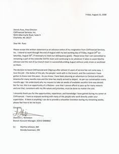 Resignation Letter Formal Letter Sample Letter And Email SampleFormal ...