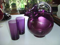 Vintage Cambridge Glass Amethyst Ball Jug by treasureislandlady, $54.95