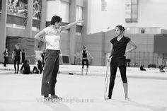 Coach and Gymnast - Rhythmic Gymnastics Training