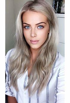 Best Ideas For Makeup Tutorials : Chloé Boucher – Blonde Haare Make-up, Blonde Hair, Make Up Looks, Ombre Rose Gold, Sublime Creature, Eye Makeup, Hair Makeup, Blonde Women, Platinum Blonde