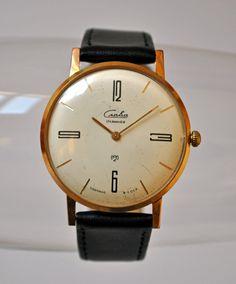 "Rare Vintage mechanical wristwatch ""SLAVA"" from USSR era."