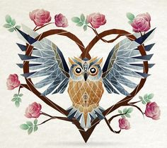 lovely owl by Manoou on Behance